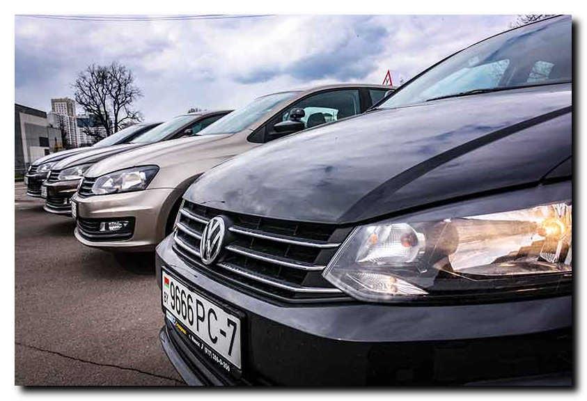 учебные автомобили на автодроме. Минск.